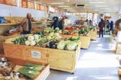 佐俣の湯農産物直売所「湧く湧く館」